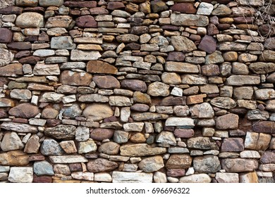 Ancient pebbles wall