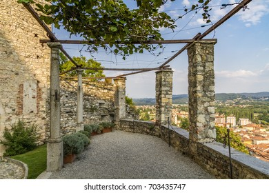 Ancient pergola at Fortress of Angera