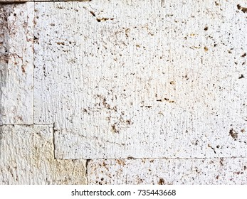 ancient perlite stone wall