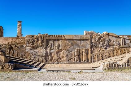 Ancient Persian carving in Persepolis - Iran
