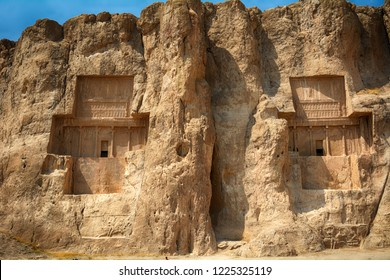 Ancient Persian Royal tombs of King Darius and Xerxes, Naqs-e Rostam, Iran