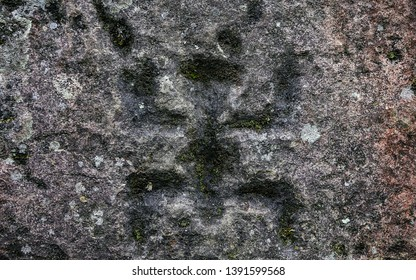 Ancient petroglyphs carved by the Carib tribes that inhabited the area of ​​the department of Cundinamarca Colombia many years ago