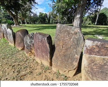 Antike Petroglyphen in Puerto Rico