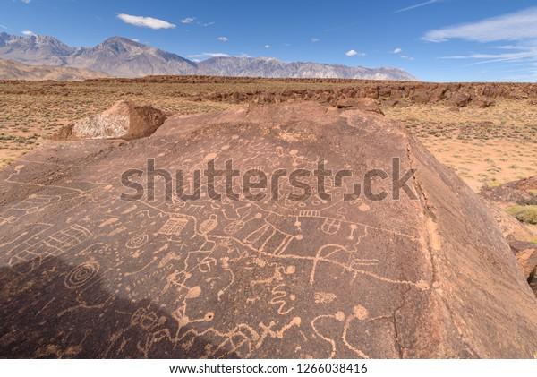 Ancient Petroglyphs at Sky Rock, California