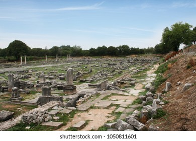 Ancient Philippi. Remains from historic Philippi that would have been visited by the Apostle Paul, Silas, Lydia and early Christians from Acts 16. These remains are near the Agora of Philippi.
