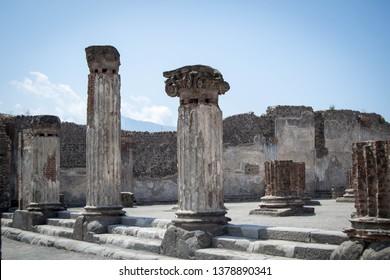 Ancient pillars of roman city