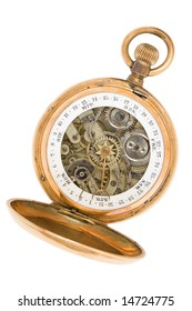 Ancient pocket watch with a calendar
