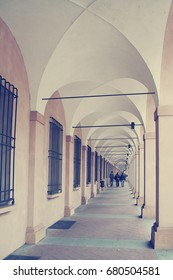 Ancient porticos on the background