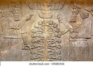 Ancient relief of Assyrian # 1