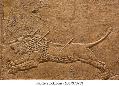 Ancient relief of Assyrian