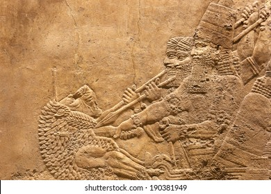 Ancient relief of Assyrian # 3