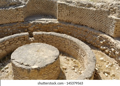 Ancient remains of Hasmonean palace near Jericho, Israel.