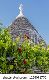 Ancient residential structures known as Trulli, found in Alberobello, in the south of italy
