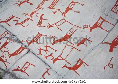 Rock carvings alta hjemmeluft finnmark norge norway