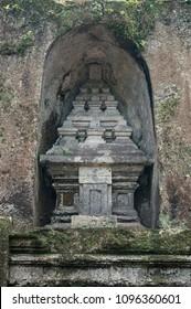 Ancient rock-cut tomb in Gunung Kawi temple on Bali, Indonesia