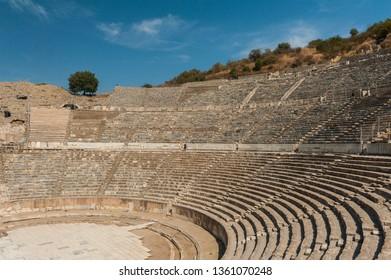 Ancient Roman Amphitheater in Ephesus, Turkey