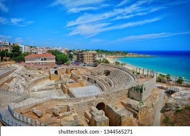 Ancient roman amphitheatre of Tarragona, Catalonia, Spain