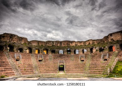 an ancient roman anphitheater located in Benevento, Italy