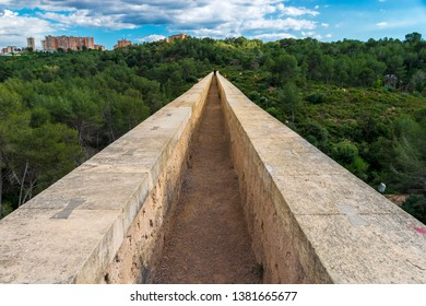 Ancient roman aqueduct Ponte del Diable in Tarragona,Spain