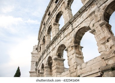 Ancient roman arena in Croatia