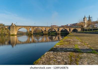 Ancient roman bridge of Ponte da Barca, ancient portuguese village in the north of Portugal.