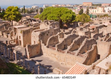 The ancient Roman city of Herculaneum. Buried at the same time as Pompeii