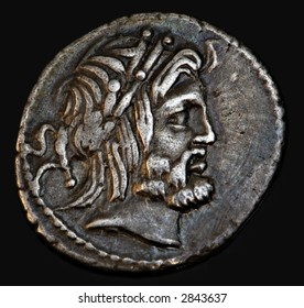 An Ancient Roman Coin With Senator Procilius