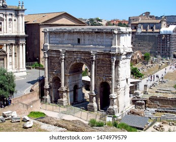 The ancient Roman forum, Rome, Italy