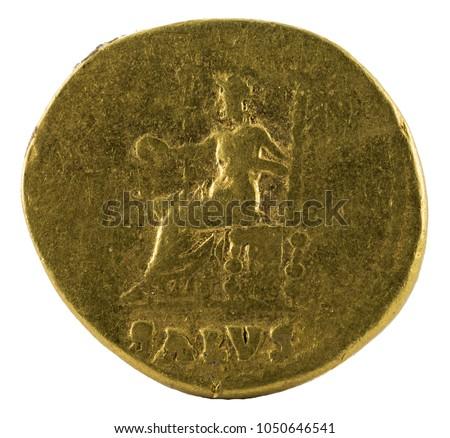 Ancient Roman Gold Aureus Coin Emperor Stock Photo (Edit Now