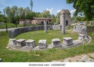 Ancient Roman Macellum at Aizonai, Anatolia, Turkey