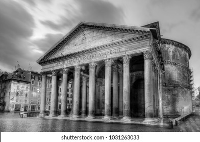 Ancient Roman Pantheon temple in Rome, Italy