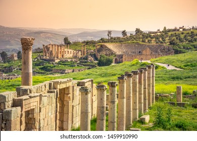 Ancient and roman ruins of Jerash (Gerasa), Jordan.