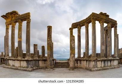 Ancient roman ruins in Tunisia