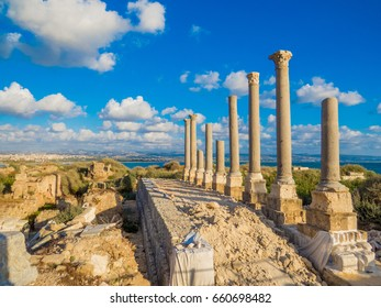 Ancient Roman ruins in Tyre, Lebanon