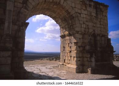 ancient Roman ruins of  Volubilis, Morocco