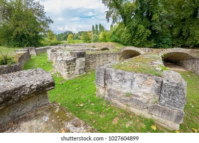 Ancient Roman Theater at the Archaeological Site of Dion. Pieria, Macedonia, Greece