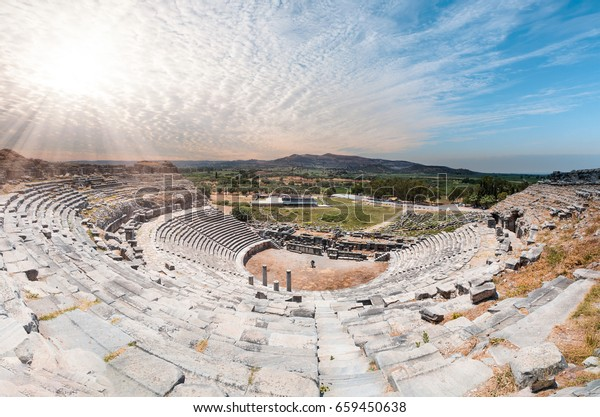 Ancient roman theater at Miletus in southern Turkey