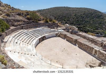 Ancient Roman theater, Milos island, Greece.