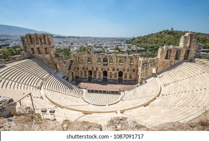 Ancient Roman Theatre aside Akropolis, Athens, Greece