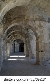 In the ancient Roman theatre of Aspendos