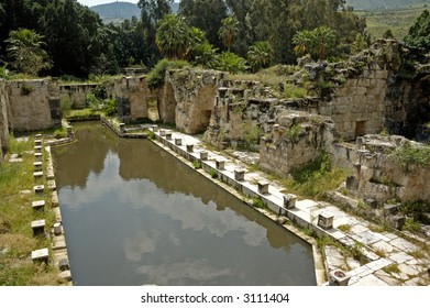 ancient roman therms in place thermal  mineral spring, Israel