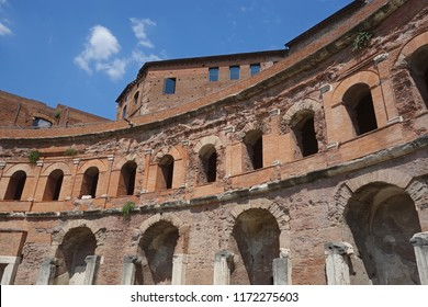 ancient Roman Trajan forum markets ruins, Rome, Italy