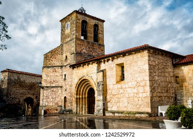 Ancient Romanesque church in the north of Spain