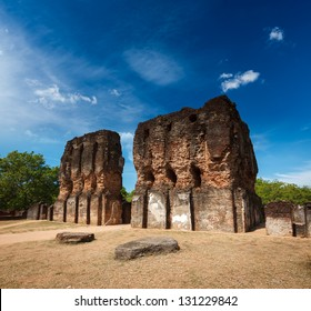 Ancient Royal Palace ruins - UNESCO World Heritage Site. Pollonaruwa, Sri Lanka