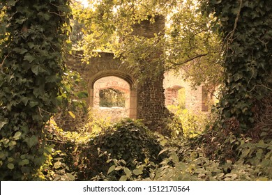 An ancient ruin with archway