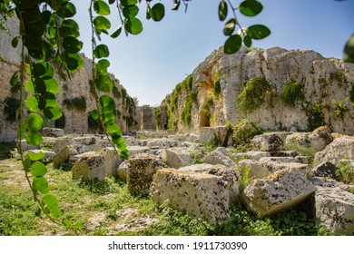 Ancient ruin of the Eurialo Greek Castle - Syracuse - Shutterstock ID 1911730390