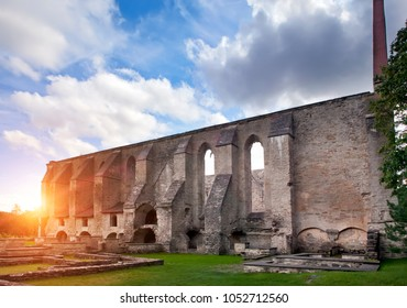 Ancient ruined St. Brigitta convent ( 1436 year)  in Pirita region, Tallinn, Estonia