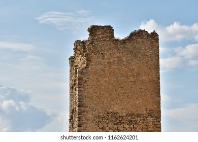 Ancient ruined tower of medieval castle