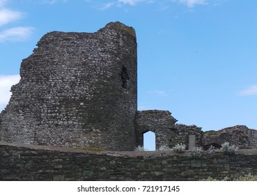 The ancient ruins of Aberystwyth castle in Wales