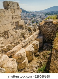 Ancient ruins of Acropolis, Athens